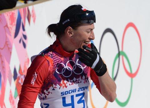 TRIUMF: Justyna Kowalczyk vant sesongåpningen til finnene.