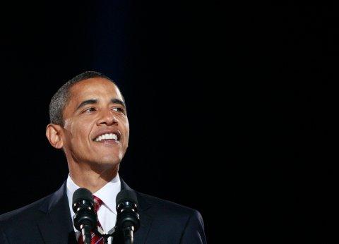 Barack Obama taler i Chicago etter valgseieren i november 2008. Nå vender han tilbake til Chicago for sin avskjedstale.