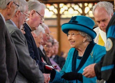 Dronning Elizabeth fotografert i april 2017.