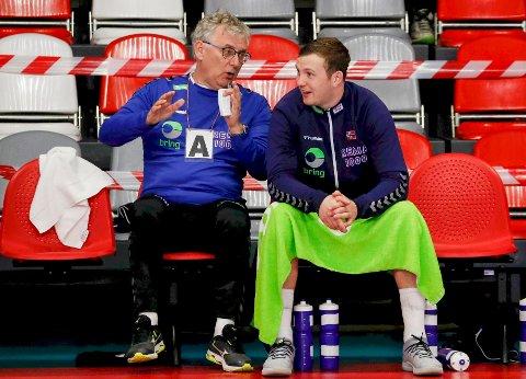Zeljko Tomac og Sander Sagosen er så godt som sikret toppseeding før håndball-EM. Foto: Toms Kalnins / NTB