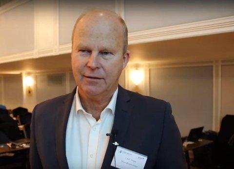 Siden nyttår har Salmar-aksjen økt hele 81 prosent, noe som igjen har økt verdiene til tidligere konsernsjef Leif Inge Nordhammer med 443 millioner kroner. Her avbildet på Havbrukskonferansen 2015.