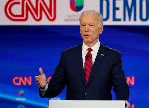 JOE BIDEN FOR PRESIDENT: Demokratenes Joe Biden skal ta opp kampen med å vippe Donald trump av presidenttronen i USA.