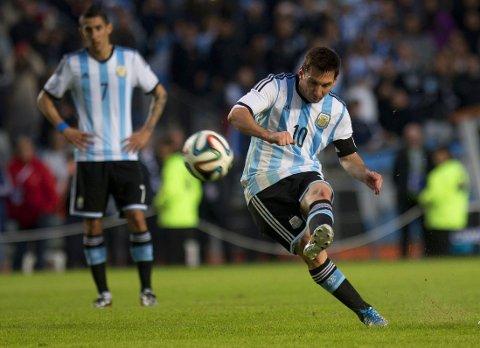 SOM BESTILT: Lionel Messi fikk entre banen som innbytter og avgjorde treningskampen mot Slovenia.