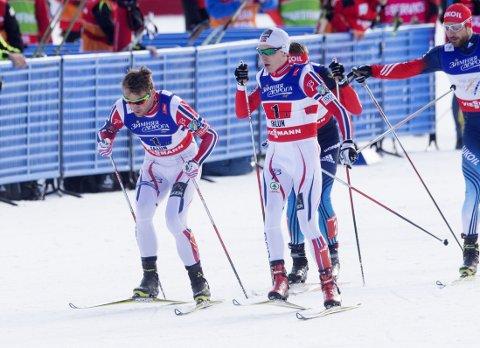 LETT VIDERE: Petter Northug og Finn-Hågen Krogh.