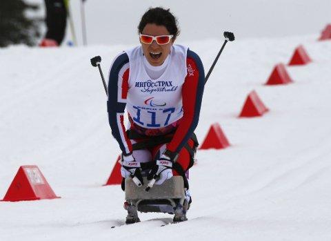 SIKRET NORGES FØRSTE GULL: Mariann Marthinsen vant langrennssprinten.
