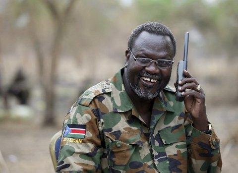 Sør-Sudans opprørsleder Riek Machar fotografert i februar 2014.