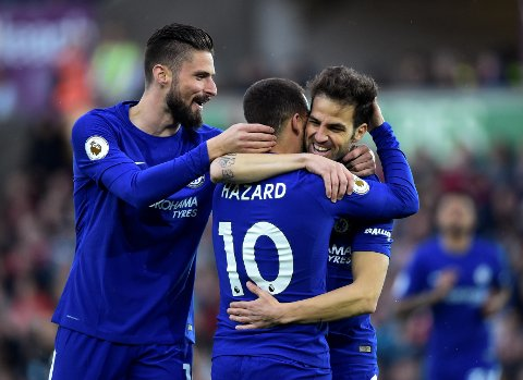 SOM BESTILT: Én scoring fra Cesc Fábregas var alt Chelsea trengte for å ta nye steg mot en plass blant de fire beste i Premier League.