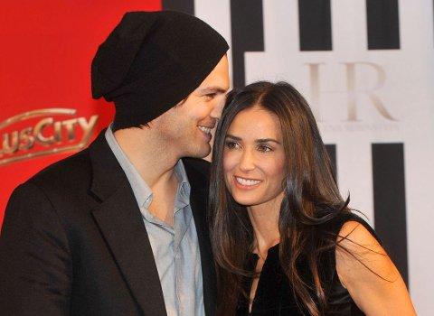 COUGAR: Ashton Kutcher og Demi Moore var i flere år et par - og de var det ultimate cougar-paret.