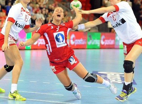 Nora Mørk slet med skuddene mot Danmark og scoret kun fire.