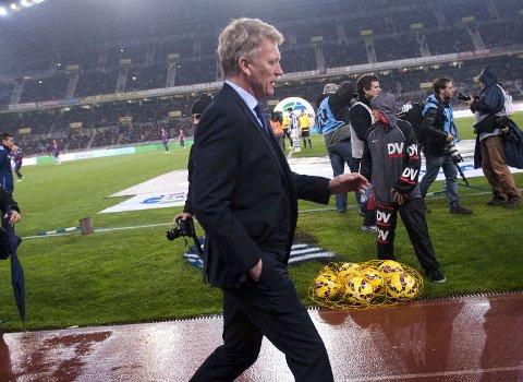 UTESTENGT: Real Sociedad-manager David Moyes.