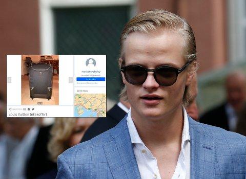 SELGER PÅ FINN: Kronprinsesse Mette Marits sønn Marius Borg Høiby (19) la ut flere gjenstander til salgs på nett, med synlig adresse.