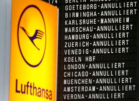 Flytrafikken i Tyskland lammes tirsdag på grunn av streiken på de store flyplassene. Illustrasjonsfoto.