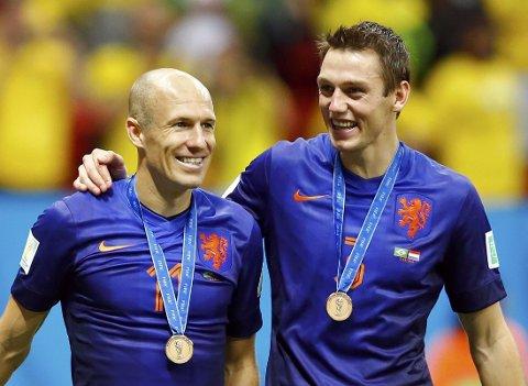 ØNSKET: Både Arjen Robben og Stefan de Vrij skal være ønsket i Manchester.