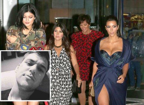 SURE MINER: Det er sure miner i Kardashian-familien om dagen. Kjæresten til Rob er ikke populær. Foto: Bulls