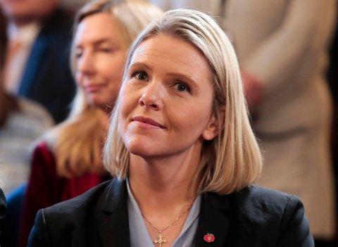 NY FORSKRIFT: Justis- og innvandringsminister Sylvi Listhaug (Frp) har nå forskriften som Stortinget ba om i november klar.