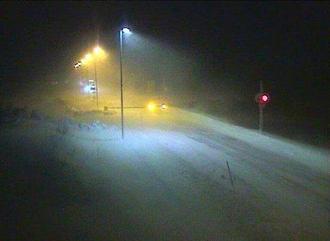 STENGT: E6 over Saltfjellet er stengt på grunn av uvær. Bildet er fra da uværet herjet over Saltfjellet i januar.