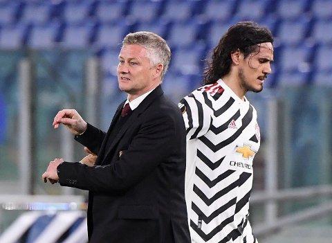 FINALEKLAR: Edinson Cavani sikret finaleplassen for Ole Gunnar Solskjær og Manchester United.