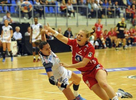 DEBUTSCORINGEN: Her scorer Vilde Ingstad sitt første landslagsmål. ALLE FOTO: SOLFRID THERESE NORDBAKK