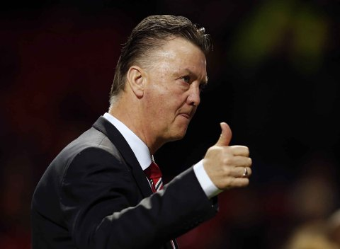 MISFORNØYD: Louis van Gaal likte dårlig at Sam Allardyce omtalte United som et langpasningslag.