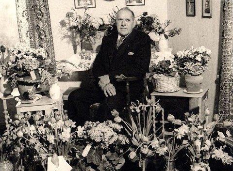 Johan Johannessen på hans 70-årsdag. Han flyttet inn på Ryenengen ved Brattlikollen i 1916.