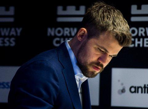 Magnus Carlsen tapte søndagens parti i Nederland. Foto: Carina Johansen / NTB