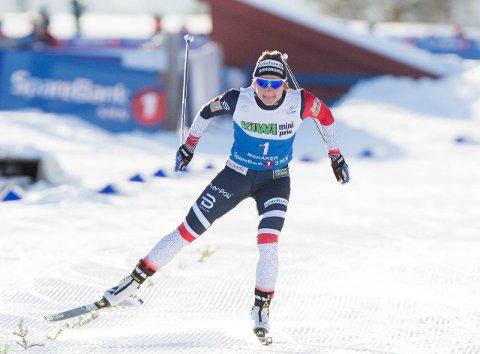 FIKK SMAKEN PÅ SEIER: Maiken Caspersen Falla er fersk vinner av NM i sprint. Denne helga er hun tilbake i verdenscupen for å konkurrere mot verdenseliten.