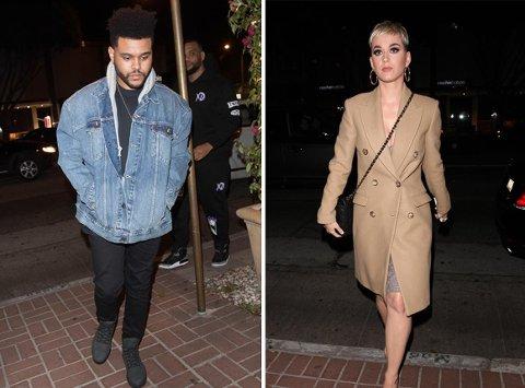 Nytt par? The Weeknd og Katy Perry har blitt observert sammen på en restaurant i West Hollywood.
