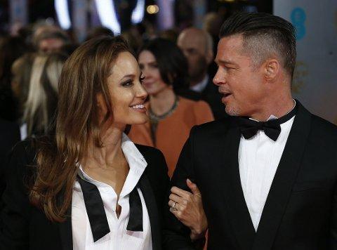 Angelina og Brad vakte oppsikt på den røde løperen-