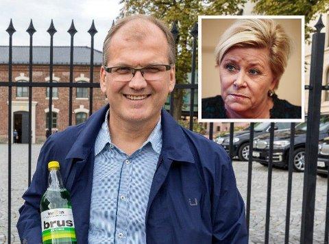 IKKE GODT NOK: Daglig leder Oskar Sylte jr. i Oskar Sylte Mineralvannfabrikk mener det ikke er godt nok å bare justere på det han mener er en håpløs avgift. Han ber finansminister Siv Jensen fjerne den helt.