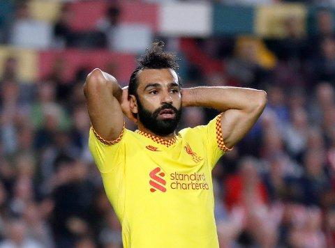 TOPPER: Liverpool leder Premier League, men Mohamed Salah skulle nok gjerne hatt tre poeng i lørdagens kamp.