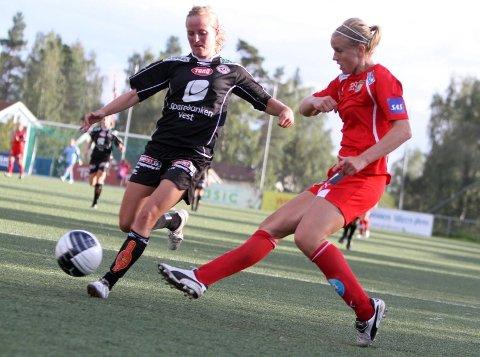 Matchvinner: Elise Thorsnes ble matchvinner for Røa da de slo Arna-Bjørnar 1-0 i seriefinalen i Bergen.