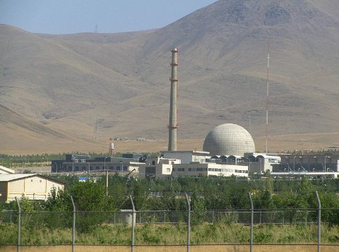 REAKTOR: Reaktoren IR-40 i Arak, ligger 320 kilometer sør for Teheran.
