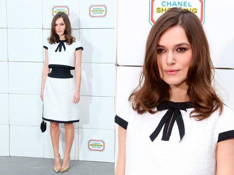 KEIR KNIGHTLEY stilte for Chanel, et motehus hun har jobbet mye med.