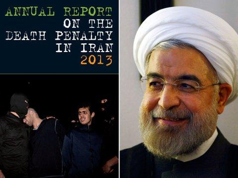 DYSTER RAPPORT: Iran Human Rights hevder neste 500 mennesker har blitt hengt det første halve året president Hassan Rouhani satt ved makten.