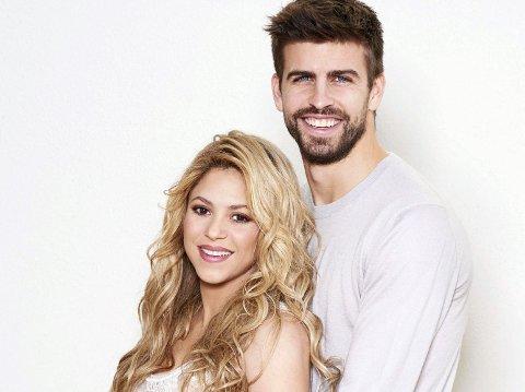 TOBARNSFORELDRE: Shakira og fotballspilleren Gerard Piqué.