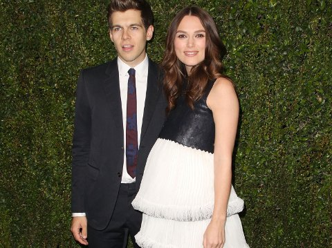 BLIR FORELDRE: James Righton og Keira Knightley.