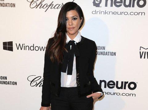 TREBARNSMAMMA: Kourtney Kardashian forsøker å gi fansen treningsmotivasjon.