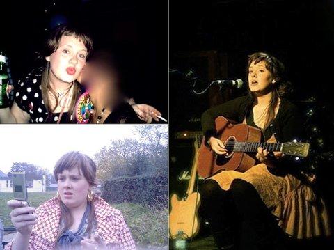 PURUNG: Hun er ikke så mye eldre enn i dag, men allerede som 18-åring var Adele kjent i nærmiljøet som en habil musiker.