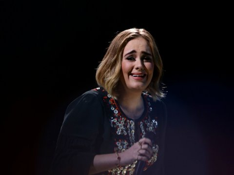 Glastonbury Festival 2016 - Day 2 Adele performing live on the Pyramid Stage at the Glastonbury Festival, at Worthy Farm in Somerset.