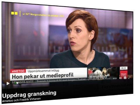 Virtanen-saken startet med at en kjent medieprofil hevdet at hun var dopet og voldtatt i 2006. Påstandene ble aldri dokumentert. Fra Uppdrag granskning