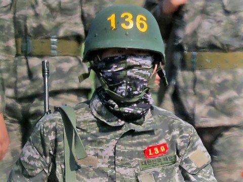 OBLIGATORISK: Heung-min Son gjennomfører deler av den obligatorisk militærtjenesten i hjemlandet Sør-Korea.