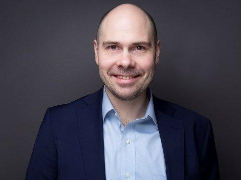 GODE TALL: Konsernsjef Anders Opdahl i Amedia legger frem sterke tall for 2020.