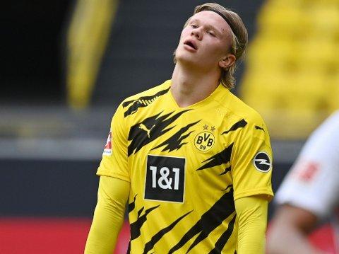 MÅLTØRKE: Erling Braut Haaland har ikke scoret for Borussia Dortmund siden 20. mars.