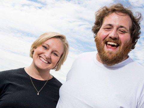 SLUTTER:Ronny Brede Aase er ferdig i NRK. Her med kona Tuva Fellman.