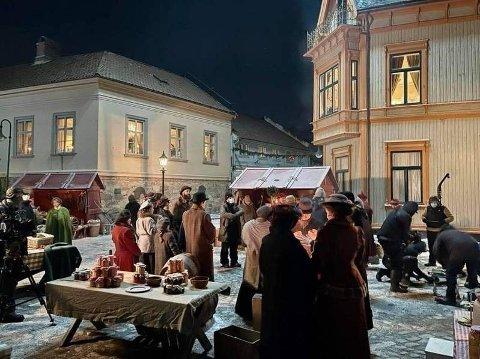 Bilde fra opptak til julekalenderen.
