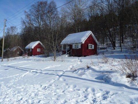 De eldste Brannfjellhyttene er røde, det er Julemerkehyttene.
