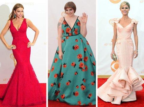 EMMY 2013: Sofia Vergara, Lena Durnham og Julie Bowen stilte i tremdy, riktige og ganske påkledde kjoler under årets Emmy-utdeling.