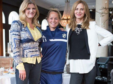 FIKK MAKEOVER: Fotballspilleren Leni Larsen Kaurin får makeover av TV-profilene og stylistene Trinny og Susannah i sesongens første episode.