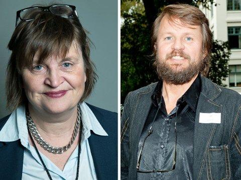 AKTIVE PÅ SOSIALE MEDIER, men har ikke tenkt å være helt av i jula; Elin Ørjasæter og Tom Egeland.