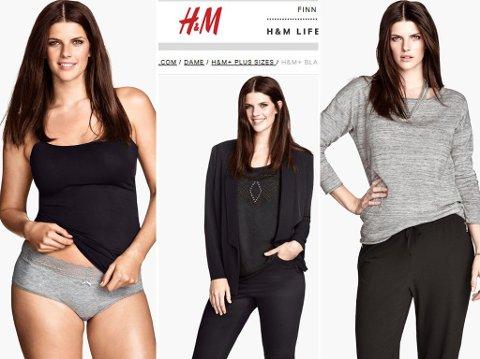 PLUS SIZE?: Dette er modellen H&M har valgt å bruke for sin «plus size»-kolleksjon. Det har ikke falt i god jord.